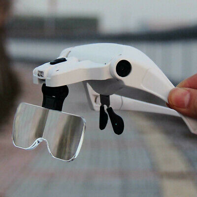 Easy Vision Illuminated Head Magnifier Glasses LED Magnifying Loupe Head Mount