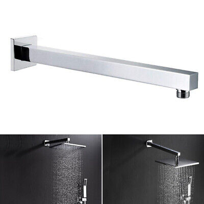 Chrome Wall Mounted Shower Head 24'' 60cm Extension Arm Stainless Steel Bathroom