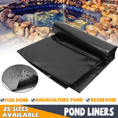 8-32ft Fish Pond Liner Gardens Pools PVC Membrane Reinforced Landscaping