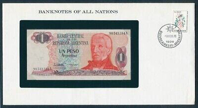 "World: 1968-88 Banknote/Stamp Cover ""SET 10 DIFFERENT"" Banknotes of all Nations"