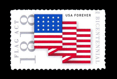 2018 Scott #5284 - FLAG ACT OF 1818. XF-MNH S/A Single. FREE SHIPPING!
