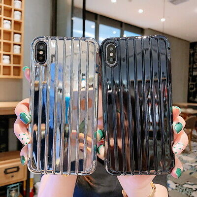 For iPhone Xs Max Xr 8 7 6s Plus Suitcase Shape Case Plating Silicone Soft Cover