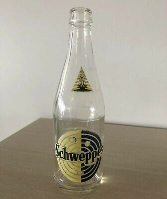Vintage Schweppes Ceramic Label Glass Bottle 13Fl.oz Collectable