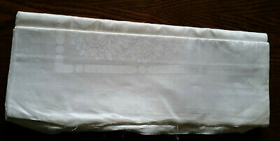 Vintage Double Damask Irish Linen Fabric approx 1m x 2m