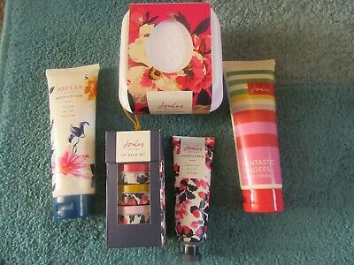 Joules bundle of gifts-bath fizzers,hand creams, body lotion + lip balm trio set