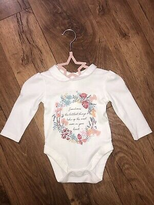 Baby Girl Collar Bodysuit / Top 3-6 Months 💙 Immaculate 💙
