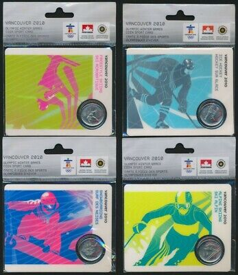 Canada 2010 25c Olympic Winter Games 2007 & 2008 coins Sports Cards