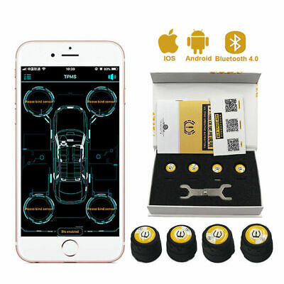 Auto Tire Pressure Monitor System TPMS Detection BT+4.0 +Sensors For Andriod IOS