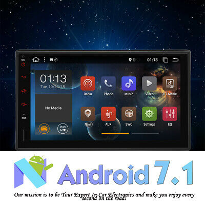 Universal 2DIN Android 7.1 Touch Auto GPS Radio Stereo Player FM/RDS/SWC/BT/Wifi