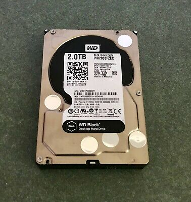 "Western Digital 2TB WD Black - WD2003FZEX - 64mb - 3.5"" - 7200rpm - Used - WTY"