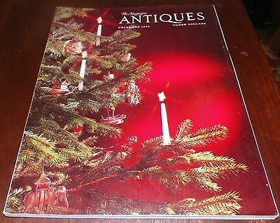 The Magazine Antiques Vintage Book Christmas December 1975  (#1)