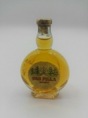 Miniature mignon minibottle Oro Pilla Brandy (b)