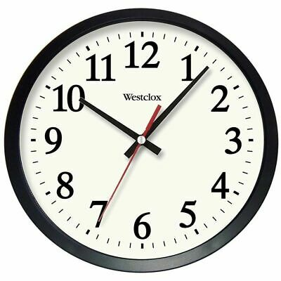 14-Inch Electric Wall Clock Round Glass Quartz Movement Home Office Kitchen
