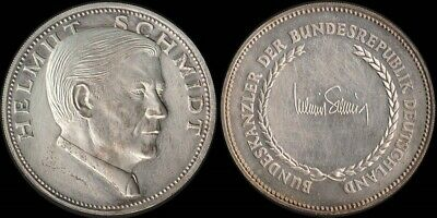 Germany: Chancellors of Germany Helmut Schmidt stg silver medal. 14.0g