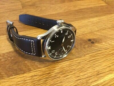 44mm WWII German B-Uhren Flieger Big Pilots Mens Mechanical Watch PARNIS 6497
