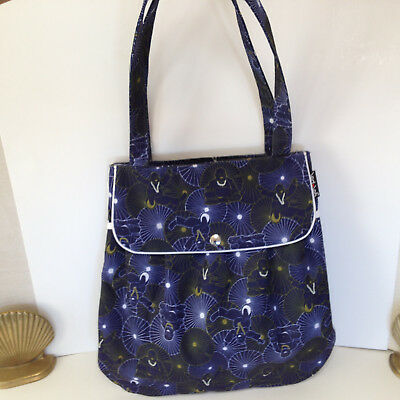 Yak Pak New Happy Buddha Bag Canvas Blue White Gold Yoga Shopping Tote Purse