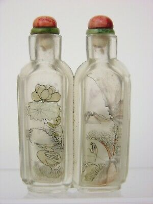 Chinese Double Inside Painted Glass Snuff Bottle
