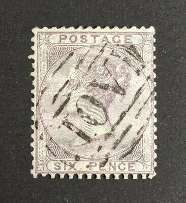 GB QV SG70 6d lilac, very fine used abroad, 'A01' cancel of Kingston, Jamaica