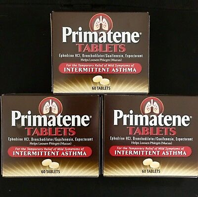 Primatene 60 Tablets Asthma Relief Similar To Bronkaid Free Same Day Shipping