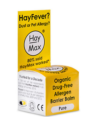 Haymax Organic drug-free allergen barrier balm 5ml *** expiry Feb 2020