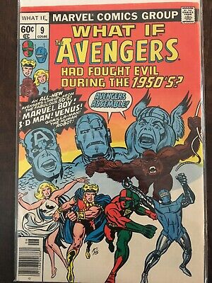 What If The Avengers Fought Evil During The 1950's 1978 Marvel Comic Book #9