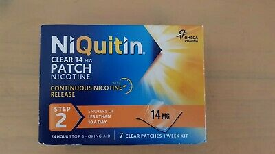 niquitin clear 14 mg 7 patches nicotine 2 steps