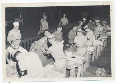 US Army Signal Corps WWII 1943 Soldiers Military Police MP Inspection 5x7 Photo