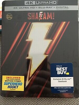 Shazam 4K Ultra HD + Blu-ray/Digital Steelbook™ Best Buy Exclusive NEW