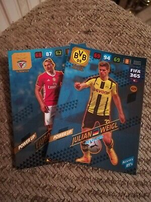 Panini Fifa 365 2017 - 2018 Card Collection--2 Key Player Cards