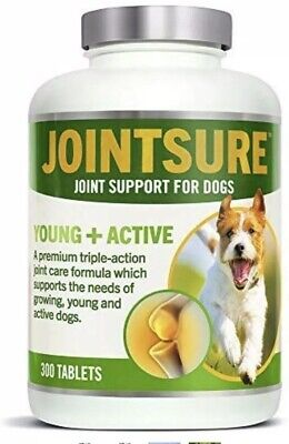 JOINTSURE Young + Active Joint supplements for dogs 300 Tablets New