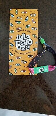 2019 Lollapalooza  4-day General Admission ticket/wristband