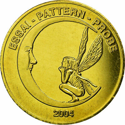 [#731527] Iceland, Fantasy euro patterns, 50 Euro Cent, 2004, UNZ, Messing