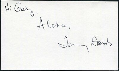Tommy Sands Signed 3X5 Index Card Pop Singer Teen Idol Actor Teen Age Crush