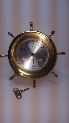 Seth Thomas-Helmsman--Ships Bell Clock-Model 1052C-Windup Clock