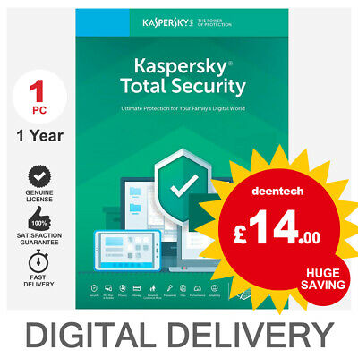 Kaspersky Total Security 2020 (1PC) Antivirus Multi-Device Genuine License