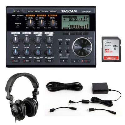 Tascam DP-006 6-Track Pocketstudio w/ Power Adapter, Headphone & 32GB Card