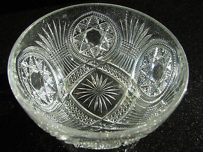 Bowl Crystal Starburst Finger Dish Antique Brilliant Very Old Stunning Piece