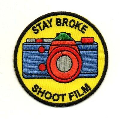 #3583 Movie Film Camera Embroidery Iron On Appliqué Patch