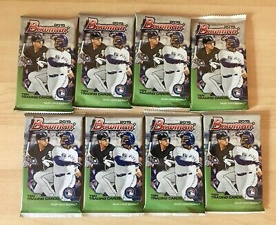 Eight (8) Pack Lot 2019 Bowman Baseball From MEGA Box Retail Chrome Prospect