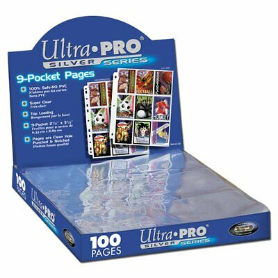 ULTRA PRO 9 Pocket Pages Silver Series Super Clear 3 Holes MAGIC YUGIOH POKEMON