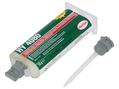 LOC-HY4080-50 Hybrid glue white gel syringe with A and B components  LOCTITE