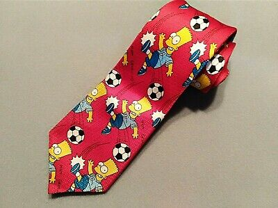 Bart Simpson Boy's Red Polyester Tie Made in Australia