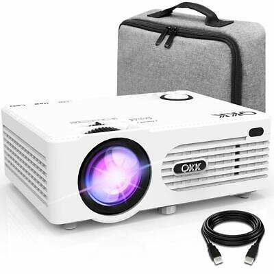 QKK Projector, AK-80 Mini Projector with Carrying Bag, 3800 Lumen - WHITE -
