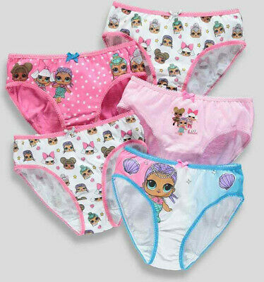 Girls 5 Pack L.O.L. Surprise Knickers Underwear Pants 4-9 Years (m)