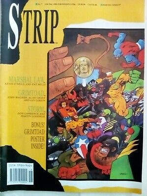 Strip #7 -1990 Marshal Law Marvel Uk Magazine - Very Fine Condition With Poster