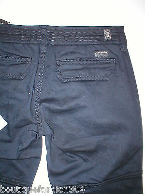 NWT 14 7 for All Mankind Girls Black Maggee Cropped Cargo Pants #7FBYG121