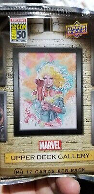 2019 Sdcc Comic Con Exclusive Upper Deck Marvel Studios Gallery Card Set /1500