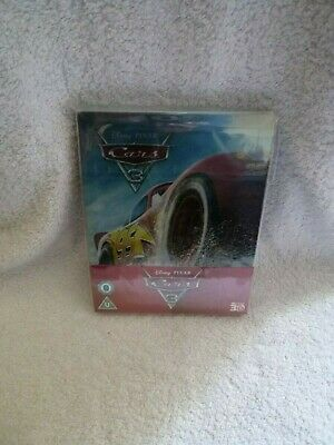 CARS  3   -   2D  &  3D  STEELBOOK   DISNEY  /  PIXAR  in perfect NEW condition