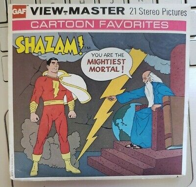 B550 Shazam! The Return of Black Adam DC Comics Cartoon view-master Reels Packet