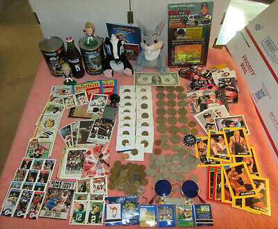 Disney, Camel, Silver coins, Coke, NFL, WCW, NBA Junk Drawer Flea Market Lot A3
